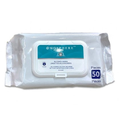 atmosphere sanitizer wipes 50