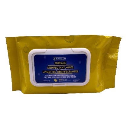 atmosphere sanitizer wipes lemon 50